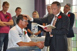 De belijdenisdienst van Jacko de With in de NGK Langerak.