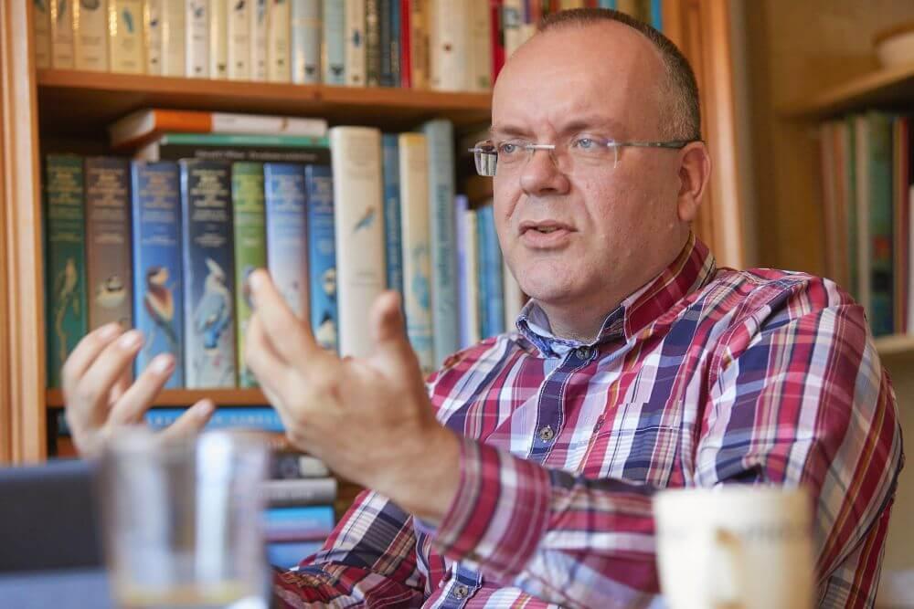 Robert Roth: 'We hebben als kerken een grote uitdaging om jonge mensen vast te houden in de gemeente.' (beeld Jaco Klamer)