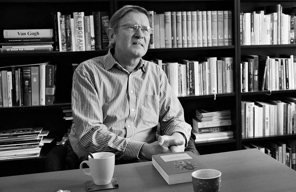 Dick Westerkamp: 'Ik wil er stellig over zijn. Mensen, word wakker!' (beeld Arie Kok)