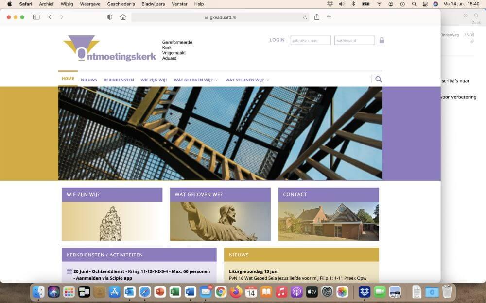 Werken aan je website